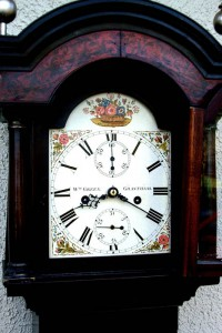 Excellent longcase clock face
